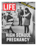 Pregnant Teenager Reading in Front of Class  April 2  1971
