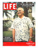 President Harry Truman in Casual Shirt  December 10  1951