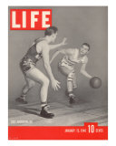 USC Basketball Player Ralph Vaughn Dribbling Past Teammate Tom McGarvin  January 15  1940