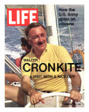 Walter Cronkite at Wheel of Boat  March 26  1971