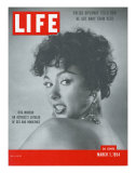Actress Rita Moreno  March 1  1954