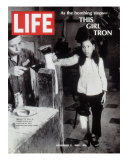12-Year-Old Vietnamese Girl Nguyen Thi Tron Watching New Wooden Leg Being Made  November 8  1968