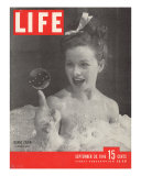 Actress Jeanne Crain Taking a Bubble Bath in a Scene from the Film &quot;Maggie&quot;  September 30  1946