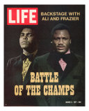 Boxers Muhammad Ali and Joe Frazier  March 5  1971