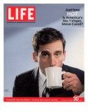 Comic Actor Steve Carell Drinking from a Cup  September 30  2005
