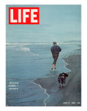 Robert F Kennedy Jogging on the Beach with his Dog  June 14  1968