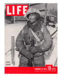 US Soldier Private George Kelly Dressed in Winter Gear on the Western Front  February 26  1945