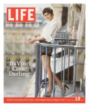 French Actress Audrey Tautou Outdoors on a Balcony in Paris  May 19  2006