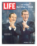 Democratic Primary Winners  Pres Candidate Hubert Humphrey and VP Edmund Muskie  September 6  1968