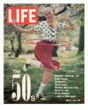 Girl using Hula Hoop  Revival of Fashions and Fads of the 1950's  June 16  1972