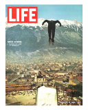 Ski Jumper at Innsbruck Olympics  February 14  1964