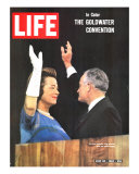 Sen Barry Goldwater and Wife at Republican Convention  July 24  1964