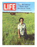 Lady Bird Johnson  August 13  1965