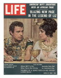 "Actors Richard Burton and Elizabeth Taylor on Set of Film ""Cleopatra ""  April 13  1962"