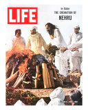 Cremation of Indian PM Nehru  June 5  1964