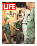 Pres Lyndon Johnson During Visit to Vietnam  November 4  1966