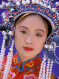 Portrait of Chinese Woman Wearing Ming Dynasty Dress  China