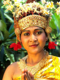 Golden Bride in Traditional Wedding Dress  Bali  Indonesia