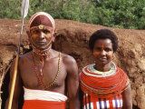 Maasai Couple in Traditional Dress  Kenya