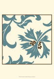 Teal Floral Motif IV
