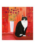 Cat with Carnations