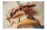 Geisha's Wooden Combs on Tatami Mat