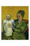 Augustine Roulin with Her Baby Reproduction d'art par Vincent Van Gogh