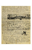 Sketch of Summer Evening in Arles in a Letter to Emile Bernard Giclée par Vincent Van Gogh