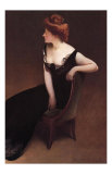 Woman Reclining in Black Dress