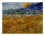 Landscape with Wheat Sheaves and Rising Moon