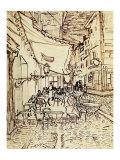 Study for the Cafe Terrace at Night Giclée par Vincent Van Gogh