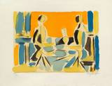 Trois personnages a table