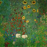Jardin aux tournesols, vers 1912 Reproduction d'art par Gustav Klimt