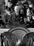President Harry S Truman Delivers Inaugural Address from Capitol Portico  January 20  1949