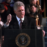 President Clinton Delivers Inaugural Speech after Being Sworn in for Second Term  January 20  1997