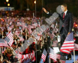 Barack Obama during election night in Grant Park on November 4  2008 in Chicago  Illinois
