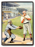 US Baseball at the Plate 'Batter Up!' Poster