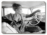 Hot Rod Leopard Pin Up Girl
