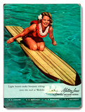 Surfer Girl - Buoyant Riding Waikiki