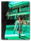 Caribbean Motel Poolside Pin Up Girl