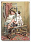 Girl and Dog on Chair