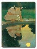 Girl looking in Pond