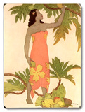 Woman at Palm Tree