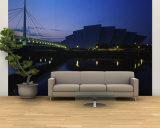 Bridge Lit Up at Dusk  Scottish Exhibition and Conference Center  Glasgow  Scotland  United Kingdom