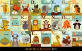 L'Alphabet du zoo|Alphabet Zoo Reproduction d'art par Jenn Ski