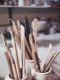 Wooden Tools for Pottery in Room in La Beauce  Canada