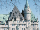 Exterior of Historical Chateau Laurier in the City of Ottawa  Ontario  Canada