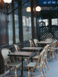 Chairs and Tables at Cafe Patio in Europe