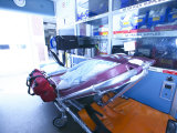 Inside of Ambulance with Medical Supplies