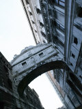 Bridge of Sighs Stretching Between Buildings in Venice  Italy